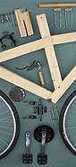 wooden bicycle frame build slideshow